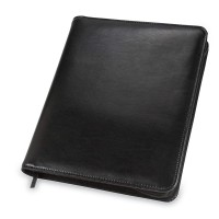 Samsill iPad Zipper Composition Pad Holder; Leather; Black (SAM70700)