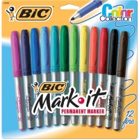 BIC ASSORTED COLOR MARKERS 12