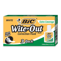 BIC CORRECTION FLUID 3PK