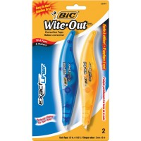 BIC TAPE CORRECTION 2PACK WHT