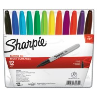 SHARPIE FINE POINT 12 COLORED