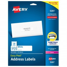 AVE ADDRESS LABEL 1X4 IN WHITE