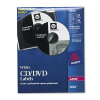 Avery CD/DVD Laser Label 40-pack White