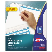 AVERY PRINT & APPLY LBL CLEAR