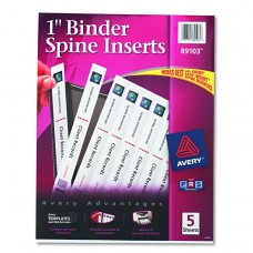 AVE BINDER SPINE INSERTS 1 IN
