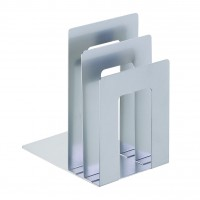 MMF BOOKEND DELUXE SQR SILV