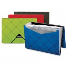 Globe-Weis Expandable Poly Pocket File - ASSORTED - 7 POCKETS