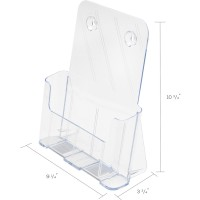 Deflecto Euro Style One Pocket Rigid Plastic Magazine Display Rack,