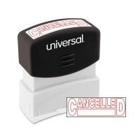 UNV STAMP CANCELLED RED