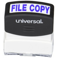 UNV STAMP FILE COPY BLUE