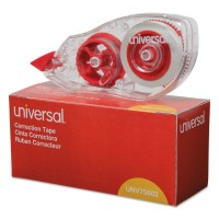 UNIVERSAL CORRECTION TAPE WHITE  2/PACK