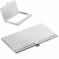 BUSINESS CARD HOLDER SILVER