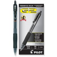 PILOT PEN G2 PREMIUM GEL .38MM BLACK 12X