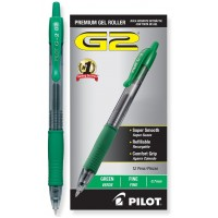 PILOT PEN G2 PREMIUM GEL 7MM GREEN 12X