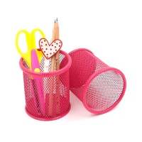 MESH STEEL PEN HOLDER PINK