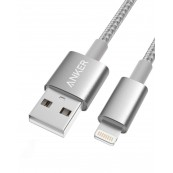 ANKER LIGHTNING NYLON SILVER 10FT