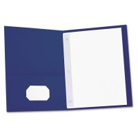 UNIVERSAL Two-Pocket COVER REPORT - DARK BLUE, 25/Box