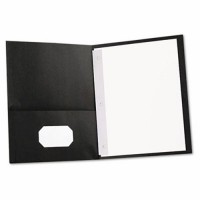 UNIVERSAL Two-Pocket COVER REPORT - BLACK, 25/Box