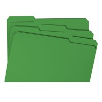 UNIVERSAL FILE FOLDER 1/3CUT LEGAL GREEN