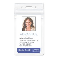 Advantus Badge Holders, Vertical 50/Pack