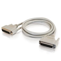 C2G 6ft Serial RS232 DB9 Null Modem Cable with Low Profile Connectors M/M