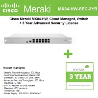 MERAKI MX84 LICENSE ADV 3YR