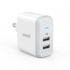 Anker 2-Port 24W USB Wall Charger PowerPort 2 WHITE