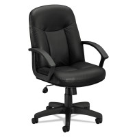 HON CHAIR EXEC HI-BACK LEATHER BLACK