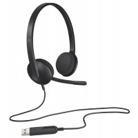Logitech USB Headset H340 - Stereo - Black - USB - Wired