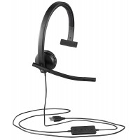 Logitech USB H570e Corded Single Ear Headset