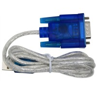 C2G / Cables To Go 26886 USB To DB9 Male Serial Adapter, Blue (0.45 Meters/1.5 Feet)