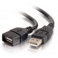 C2G 2M (6.5') USB 2.0 A Male to A Female Extension Cable, Black