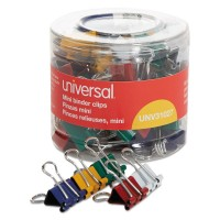 UNV CLIP BINDER ASSORTED SMALL
