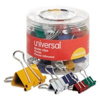 UNV CLIP BINDER ASSORTED SIZES