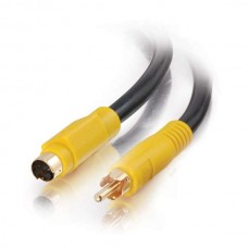 C2G / Cables to Go 27964 6 feet Value Bidirectional SVideo To RCA Cable