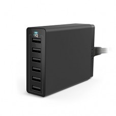 ANKER 60W 6 PORT USB CHARGER - Black