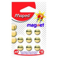 Maped magnets diameter 10 mm, 8 pieces, gilded