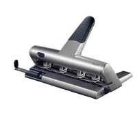 Leitz Hole Punch 3MM SILVER with stop rail