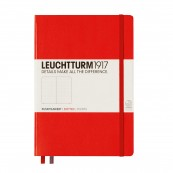 LEU HARDCOVER DOTED POINTS RED