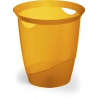 DURABLE WASTE basket TREND ORANGE TRANSPARENT