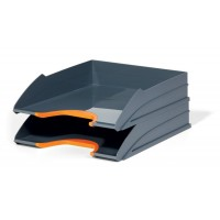 DURABLE VARICOLR LET TRAY SET ORANGE