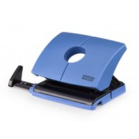 NOVUS 2-HOLE PUNCH WITH STOP RAIL EASY BLUE