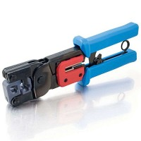 C2G / Cables To Go 19579 Crimping Tool with Cable Stripper (Black/Blue)