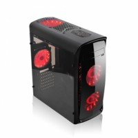 AGILER ATX PC GAMING COMPUTER CASE BLACK