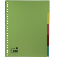 5 STAR TAB DIVIDER ASSORTED COLOR - 5 TABS