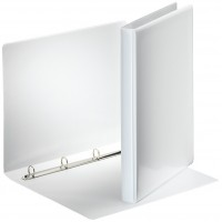 Esselte customizable binder, 4D rings of 30 mm, white