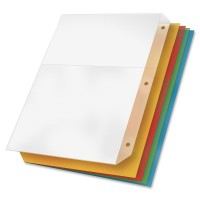 Cardinal(R) Poly Ring Binder Pockets, Multicolor, Pack Of 5