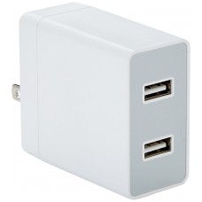 AMAZON 2 PORT WALL CHARGER WHITE