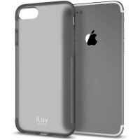 Protection Cover for IPhone 7 by iLuv, Grey, AI7GELABK