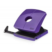 NOVUS 2-HOLE PUNCH WITH STOP RAIL LILAC PURPLE
